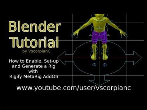 tutorial rigify blender blender 3d tutorial rigify pt 1 how to generate your