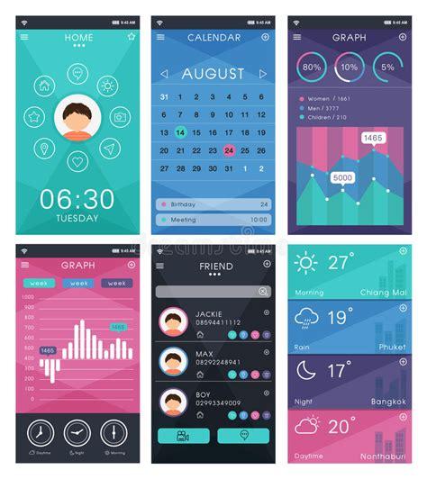 app design vector download template for mobile app design stock vector illustration