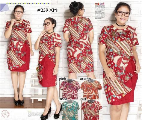 jual blus jumbo murah xm batik dress jumbo atasan