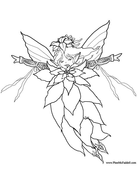 colouring pages christmas fairy poinsettia fairy coloring page coloring home