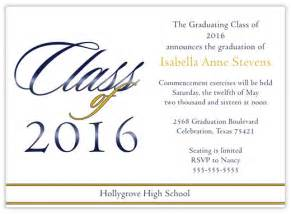 high school graduation announcement wording