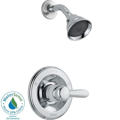 delta lahara 1 handle 1 spray shower faucet trim kit in
