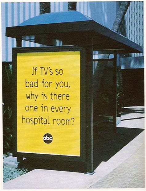 why is one room in my house so cold quot if tv is so bad for you why is there one in every hospital room quot abc advertising