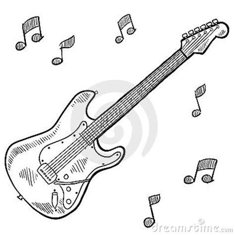 doodle do guitarra desenho da guitarra el 233 trica fotos de stock imagem 22416983