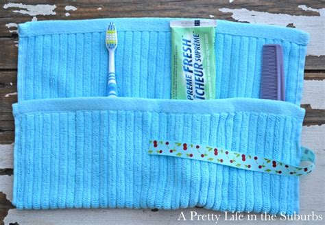 These Terry Cloth Toiletry Bags Make Packing Up The Bathroom by Great Recipes Crafts And Diy This Week Skip To My Lou