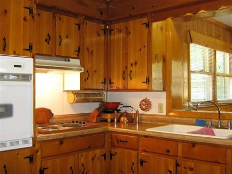 kitchen cabinets on knotty pine walls keeping knotty pine in 1940 s kitchen google search