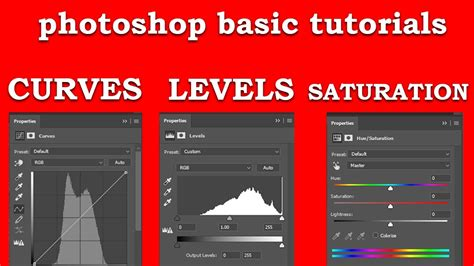 photoshop cs5 hue saturation tutorial use the photoshop levels adjustment curves and