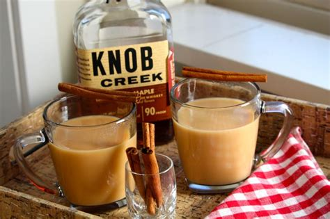 Knob Creek Drinks maple bourbon chai tea the tray chic