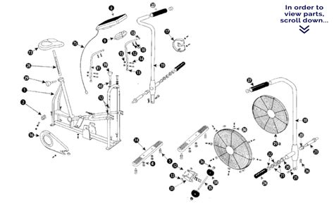 schwinn airdyne parts diagram airdyne frame parts schwinn airdyne exercise bike