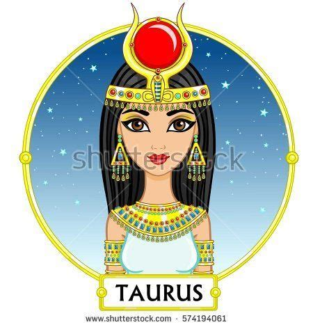 zodiac sign taurus fantastic princess animation portrait