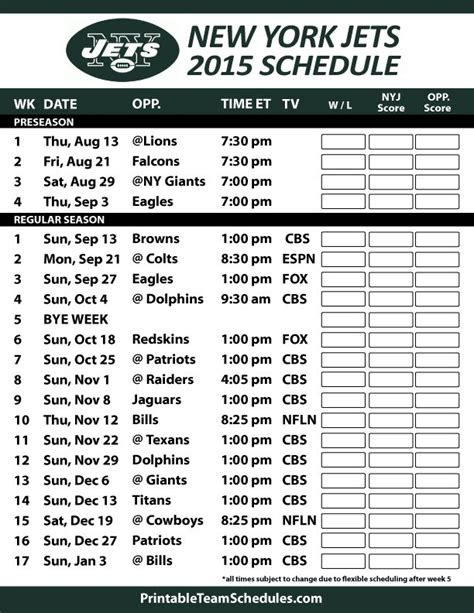 nfl giants schedule 2015 printable 1000 images about nfl new york jets on pinterest