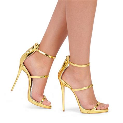 high heels 3 buy gold black leather