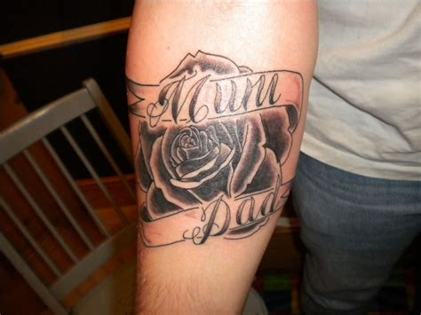 mom and dad rose tattoos images designs