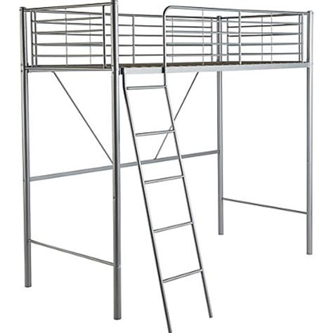 Metal High Sleeper Bed Frame by Metal High Sleeper Bed Frame With Bibby Mattress