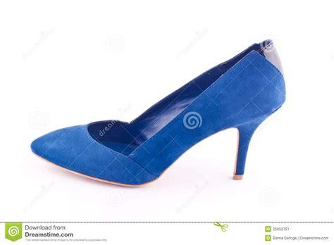 blue high heel shoe stock image image 25052761