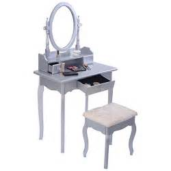 Makeup Jewelry Desk Giantex Silver Vanity Jewelry Makeup Dressing Table Set W