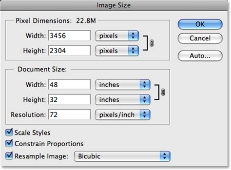 Photoshop Layout Size | image resolution pixel dimensions and document size in