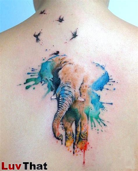 color elephant tattoo 25 amazing watercolor tattoos luvthat