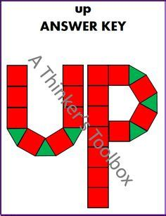 pattern block words word puzzles pattern blocks and toolbox on pinterest