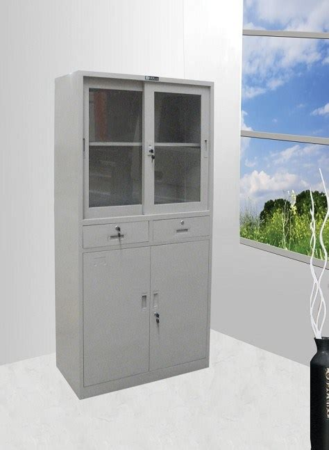 china sliding glass door cabinet with drawers gof