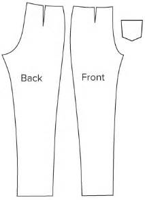 pdf sewing pattern for slim cut trousers easy online for