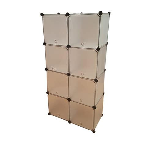 bn 8 doors white stackable assemble diy storage wardrobe