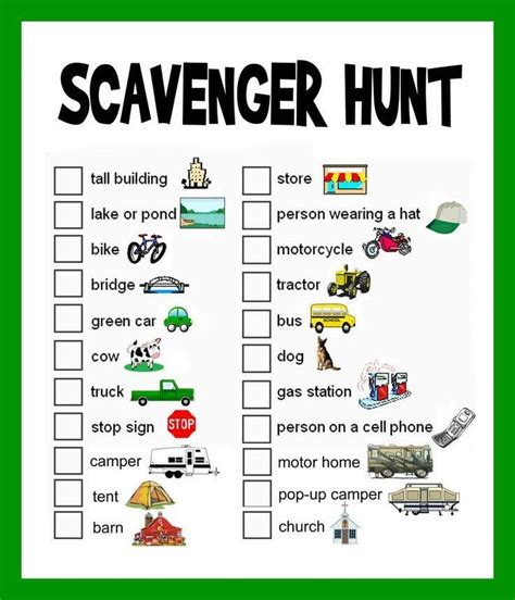 printable road trip scavenger hunt a scavenger hunt for a road trip fun things for kids to