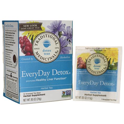 Traditional Detox Tea by Traditional Medicinals Everyday Detox Tea 16 Bag S