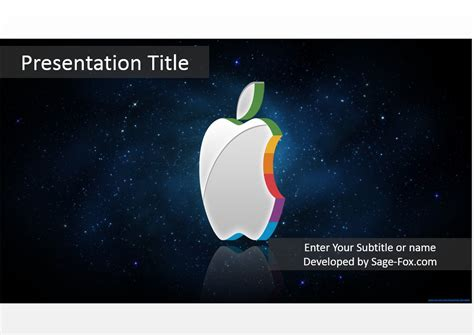 Free 3d Apple Powerpoint 4785 Sagefox Powerpoint Templates Apple Powerpoint Template