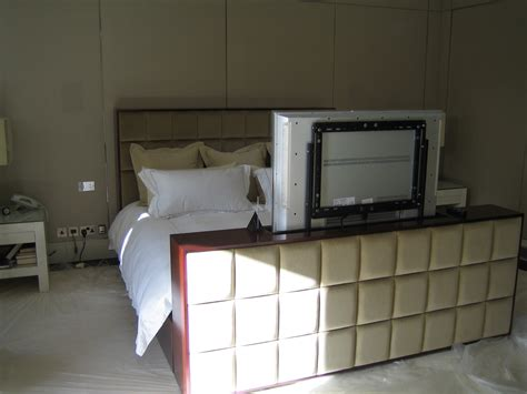 custom made beds custom made bed with integrated flat screen tv london