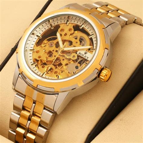 Rolex Skeleton Aoutomatic Chain rolex skeleton automatic two tone wrist in rs 2999