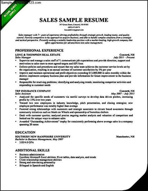 resume exles 2016 insurance sales resume sle 2016 sle templates