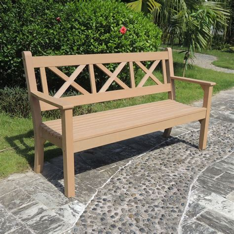 teak garden benches uk maywick winawood 3 seater wood effect garden bench teak