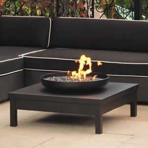 gas pit table uk black powder coated gas pit table amazon co uk