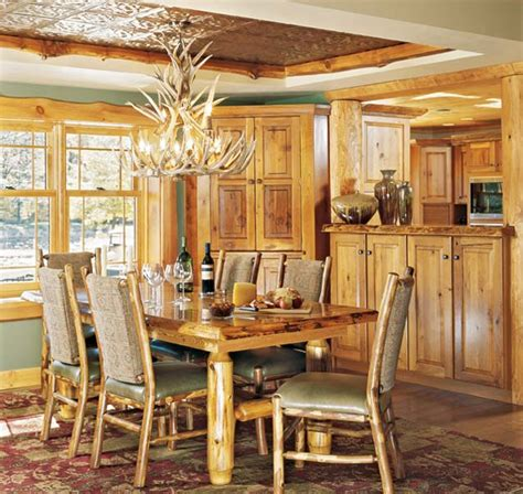 Lighting For Dining Rooms Tips Room By Room Lighting Guide For Log Homes