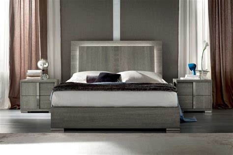 bed in italian tivoli bedroom with led lights by alf furniture alf
