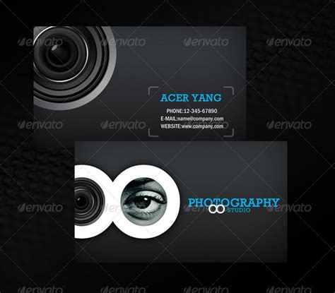 studio post card template 20 photography business card templates