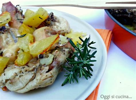 cucinare il pollo a pezzi pollo al forno con patate oggi si cucina