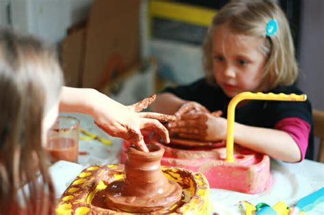 to make with toddlers trying out a new pottery wheel for