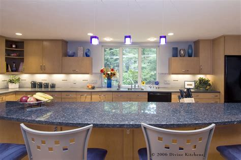 blue granite countertops kitchen traditional with