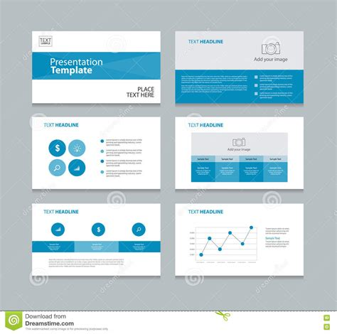page layout for presentation blue page layout design template for presentation stock