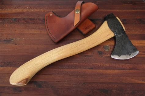 Handmade Axes Usa - hammer forged axe lucas forge