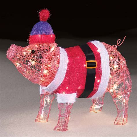 lighted pig lawn ornament christmas pig yard decorations billingsblessingbags org