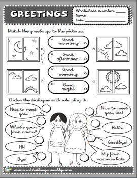 greetings worksheets for greetings worksheet greetings student