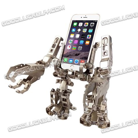 mechworld metal forklift robot ajustable stand phone