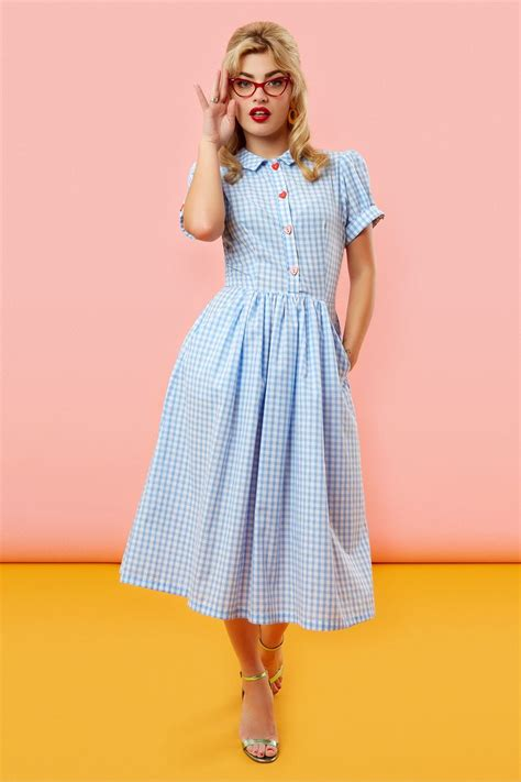 Blue Sweet Retro Dress From Tara Deluxe 17 best images about tara starlet on retro vintage tie front shirt and dress black