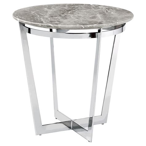 gray coffee and end tables interlude wyatt grey marble steel end table kathy