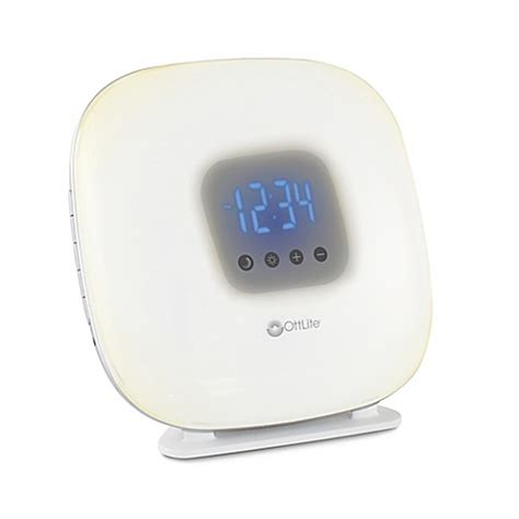 alarm clock that wakes you up in light sleep ottlite 174 wake up your way light alarm clock in white