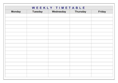 Classroom Timetable Weekly Layout   Teacher Timesavers