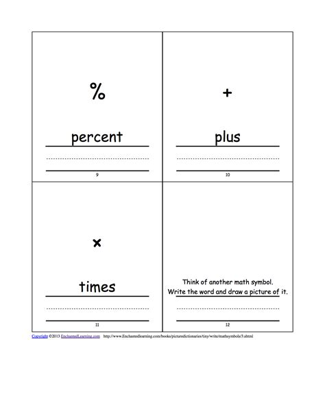 coloring pages of math symbols word families enchantedlearningcom enchanted learning